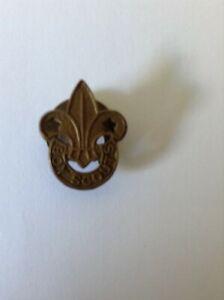 Vintage Boy Scouts Fleur De Lis Metal Lapel/Hat  Badge