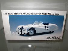 1:18 Autoart BMW 328 Nr. 72 Streamline Roadster Mille Miglia 1940, 84045 NEU&OVP