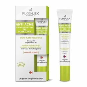 FLOS-LEK ANTI ACNE - Antibacterial Point Gel, Oily And Acne Skin - 20 ml