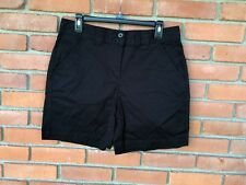 KIM ROGERS - Deep Black Cotton Stretch Shorts  - Size 10