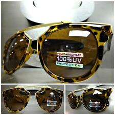 Men or Women CLASSIC VINTAGE RETRO Style SUNGLASSES Unique Tortoise & Gold Frame