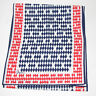 Vera Neumann Scarf Red White Blue Diamond X Pattern Japan 54 X 11