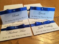 PERSONALISED DIAMANTÉ WEDDING RECEPTION NAME PLACE CARDS