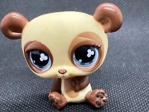 Littlest Pet Shop Authentic Lps 612 Chocolate Brown Cream Panda Bear Clover Eyes