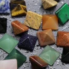 16 Type Chakra Pyramid Stone Set Crystal Healing Wicca Natural Spirituality