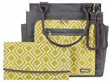 JJ Cole Freeman Baby Diaper Bag Citrine Lattice with Changing Pad NEW 2016