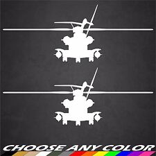2 USMC CH-53 Sea Stallion Front Helicopter Marines Sticker Military Decal Car