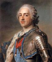 Huge Oil painting Maurice Quentin de La Tour - Male portrait Louis XV in  Armor