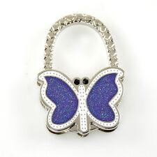 "Stylish Foldable Handbag Holder ""Glitter Butterfly"" Purse Hook"