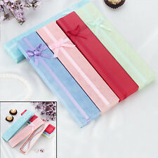 5Pcs Long Jewellery Display Gift Boxes with Bow for Necklace/Bracelet/Watch Case