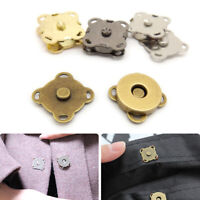 10PCS Magnetic Metal Snap Button DIY Craft Sew On for Coat Bag Accessories