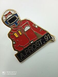 Pin's vintage Collector pins publicitaire MARLBORO F1 Alain Prost Lot S030
