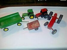 Mixed Lot of Child's Toy Tractors & Wagons-Farm Vehicles