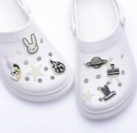 In Stock: Bad Bunny Croc Charms Complete Set 8 - Glow in the Dark - Jibbitzs