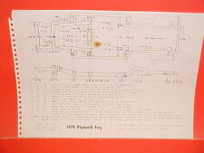 1970 PLYMOUTH SPORT FURY GT S-23 CONVERTIBLE GRAN COUPE FRAME DIMENSION CHART
