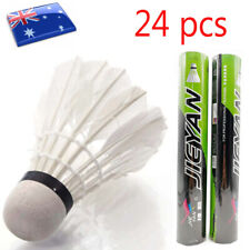 24-48 Pcs Durable Sport Goose Feather Shuttlecocks Badminton Ball Training Game