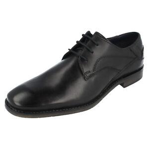 Vente Hommes Bugatti Noir Leather Chaussures à Lacets 313-23003-1000