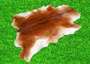"""Brown Cowhide Rugs Hair On COW HIDE Rugs Area CowSkin Leather Rugs (59"""" x 59"""")"""