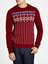 Lyle and Scott Fairisle Crew Neck Jumper, Sweater, Large, BNWT, Christmas?