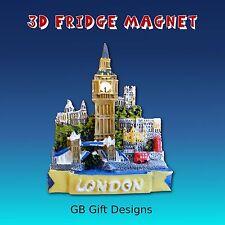 3D LONDON BIG BEN CENTRAL COLLAGE FRIDGE MAGNET ICON NOVELTY HOLIDAY SOUVENIR