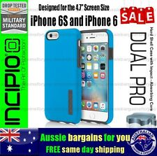 Incipio iPhone 6S 6 DualPro Impact Shock Absorbing Rugged Tough Case Blue Slim