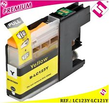 TINTA LC123Y LC121Y AMARILLA COMPATIBLE CARTUCHO AMARILLO NONOEM BROTHER
