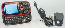 Samsung Intensity Verizon RED Cell Phone 1.3 MP Slider Qwerty Keys SCH-U450 -C-