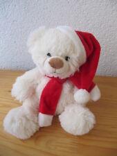 Bob der Bär Nikolaus Teddy Eis Bär weiß 20 cm Plüschtier Stofftier Kuscheltier