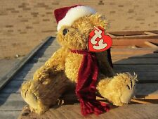 """TY Beanie Baby JANGLE Christmas BEAR Witch approx 6"""" sitting 8"""" long  POSEABLE"""