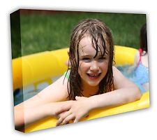 CANVAS PRINT YOUR PHOTO ON LARGE PERSONALISED BOX FRAMED -20X16