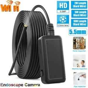 1920P WiFi Endoscope Wireless Rigid Inspection Camera 6 LED for Android iPhone