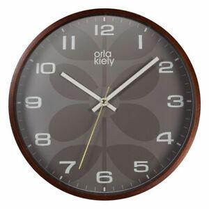 Orla Kiely Grey Wall Clock