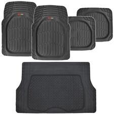 Motor Trend Deep Dish Car Floor Mats & Cargo Trunk Liner Black Heavy Duty Rubber