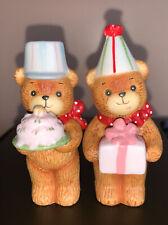 New ListingVintage Lucy & Me Bear Enesco 1980 Lot Of (2) Cute Figures Happy Birthday Bears