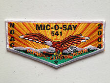 MIC O SAY OA LODGE 541 SCOUT PATCH SERVICE FLAP NOAC 2004 DELEGATE WHITE OLYMPIC
