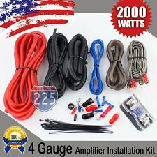 Red 4 AWG Gauge Amplifier Installation Wiring Complete Kit + RCA Interconnect US