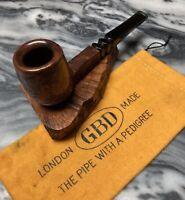 Vintage Estate GBD Tapestry Semi Rustic Billiard Sitter Pipe 9489-With Glove!