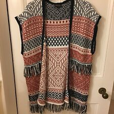 Topshop Size Small Knitted Gillette Jumper Cardigan Aztec Pattern