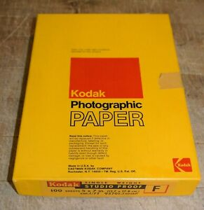 RARE ~ KODAK PHOTOGRAPHIC PAPER ~ SINGLE WEIGHT 'STUDIO PROOF' 100 sheets 5 x 7