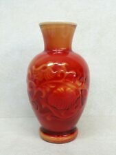 Chinese Red Double Layer Glass Vase