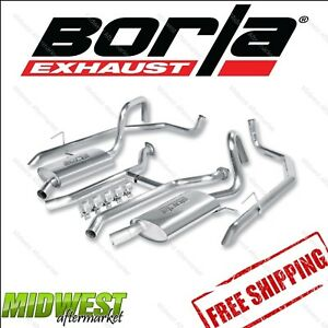 Borla Touring CatBack Exhaust For 03-11 Ford Crown Victoria 4.6L V8 Auto Trans.