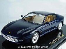 FERRARI 456M CAR MODEL 1/43RD SCALE DARK BLUE COLOUR SCHEME EXAMPLE T3412Z(=)