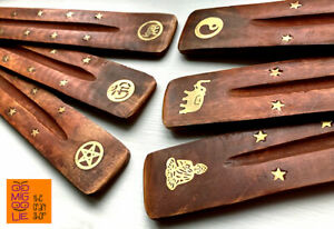 Indian Mango Wood Ash Catcher Incense Joss Stick Holder Flat Insence Ashcatcher