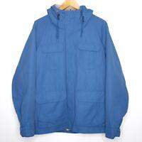 Uniqlo Mens Blue Mountain Parka Windbreaker Jacket Size Medium Outdoors