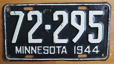 Minnesota 1944 License Plate # 72-295
