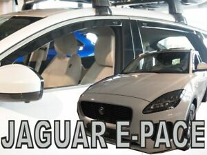 For JAGUAR E-PACE  2018 ->  5.doors  Wind deflectors 4.pc  HEKO  18307