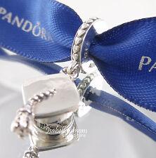 GRADUATION HAT Authentic PANDORA Silver HARD WORK PAYS OFF Dangle Charm 791892