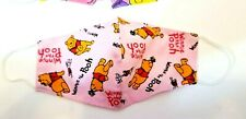 Washable Face Cover Mask man Made Custom Pink Winnie Pooh honey bear piglet NEW