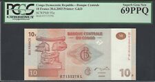 Congo Democratic Republic 10 Francs 30-6-2003 P93a Uncirculated Graded 69