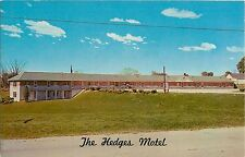 c1950s The Hedges Motel and Coffee Shop, Indiana Postcard